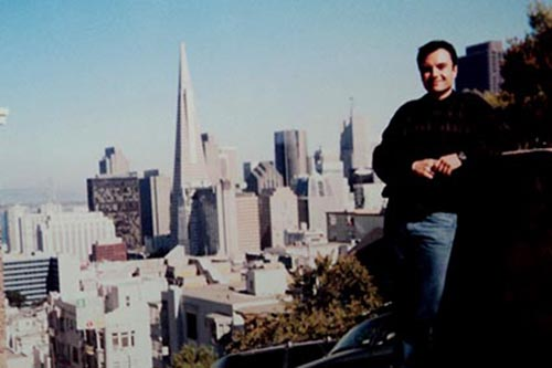 2001- Quando morou nos Estados Unidos, na cidade de San Francisco – Califórnia.
