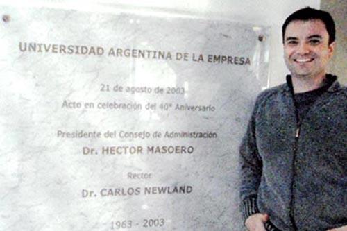 2008 – Quando concluiu modulo na universidade Argentina de La Empresa em Buenos Aires