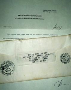 Henry Jenné Resposta da carta enviada a Antártida livro 21 dias nos confins do mundo