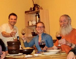 henry jenné Jantar de despedida de Puerto Williams, com o explorador Alejo Contreras e a Dra Carie Frantz 21 dias nos confins do mundo