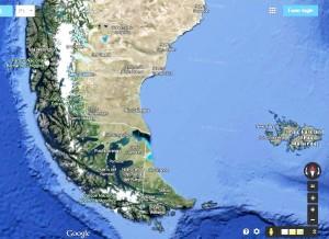 mapa do extremo sul