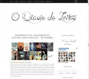 Diário do leitor de São Paulo destaca o livro 21 Dias Nos Confins do Mundo do autor catarinense Henry Jenné, editora Novo Século