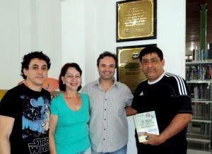 Visita do escritor Henry Jenné autor do livro 21 Dias Nos Confins do Mundo a Biblioteca Pública Municipal de Itajaí/SC