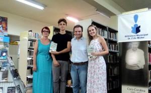 Visita do escritor Henry Jenné autor do livro 21 Dias Nos Confins do Mundo a Biblioteca Pública Municipal Fritz Muller de Blumenau/SC
