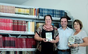 visita do escritor Henry Jenné autor do livro 21 Dias Nos Confins do Mundo a Biblioteca Pública de Botuverá SC