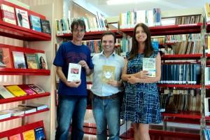 Visita do escritor Henry Jenné autor do livro 21 Dias Nos Confins do Mundo a Biblioteca Pública Municipal de Brusque/SC