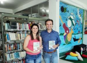 visita do escritor Henry Jenné autor do livro 21 Dias Nos Confins do Mundo a Biblioteca Pública de Celso Ramos SC