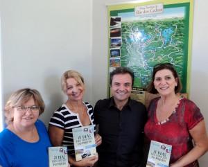 visita do escritor Henry Jenné autor do livro 21 Dias Nos Confins do Mundo a cidade de Rodeio Circolo Trentino SC