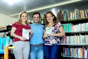 Visita do escritor Henry Jenné autor do livro 21 Dias Nos Confins do Mundo a Biblioteca da EBM Presidente Médici foto 2