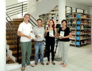 visita do escritor Henry Jenné autor do livro 21 Dias Nos Confins do Mundo a Biblioteca Pública de Rio do Sul 2 SC