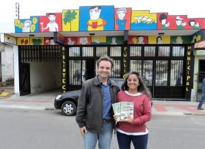 Visita do escritor Henry Jenné autor do livro 21 Dias Nos Confins do Mundo a Biblioteca Publica de Imbituba