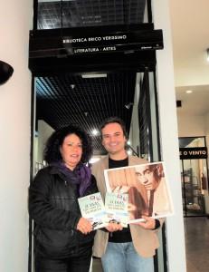 Visita do escritor Henry Jenné a Biblioteca Erico Verissimo em Porto Alegre