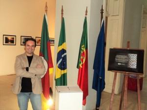 Visita do escritor Henry Jenné ao Museu Histórico em Porto Alegre