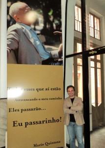 Visita do escritor Henry Jenné ao Centro Cultural Mario Quintana em Porto Alegre