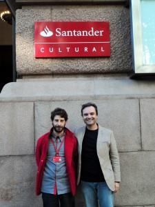 Visita do escritor Henry Jenné a Biblioteca do Centro Cultural Santander em Porto Alegre