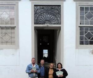 Visita do escritor Henry Jenné autor do livro 21 Dias Nos Confins do Mundo a Biblioteca Publica de Laguna