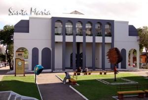 Biblioteca Pública Municipal do Estado do RS que recebeu exemplares do livro 21 Dias Nos Confins do Mundo do escritor Henry Jenné santa maria