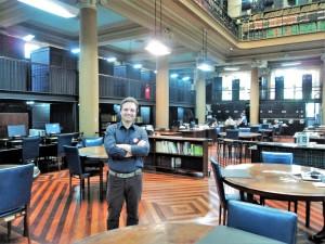 Visita do escritor henry jenné as bibliotecas do Rio de Janeiro biblioteca nacional