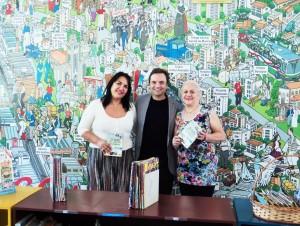 Visita do escritor Henry Jenné autor do livro 21 Dias Nos Confins do Mundo a Biblioteca Publica Affonso Taunay de São Paulo