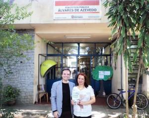 Visita do escritor Henry Jenné autor do livro 21 Dias Nos Confins do Mundo a Biblioteca Publica Álvares de Azevedo de São Paulo