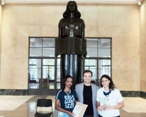 Visita do escritor Henry Jenné autor do livro 21 Dias Nos Confins do Mundo a Biblioteca Publica Mário de Andrade de São Paulo