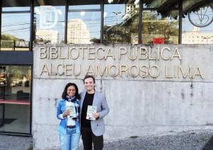 Visita do escritor Henry Jenné autor do livro 21 Dias Nos Confins do Mundo a Biblioteca Publica Alceu Amoroso Lima de São Paulo