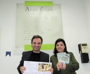 Visita do escritor Henry Jenné autor do livro 21 Dias Nos Confins do Mundo a Biblioteca Publica Anne Frank de São Paulo
