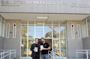 Visita do escritor Henry Jenné autor do livro 21 Dias Nos Confins do Mundo a Biblioteca Publica Pref Prestes Maia de São Paulo