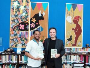 Visita do escritor Henry Jenné autor do livro 21 Dias Nos Confins do Mundo a Biblioteca Publica Belmonte de São Paulo