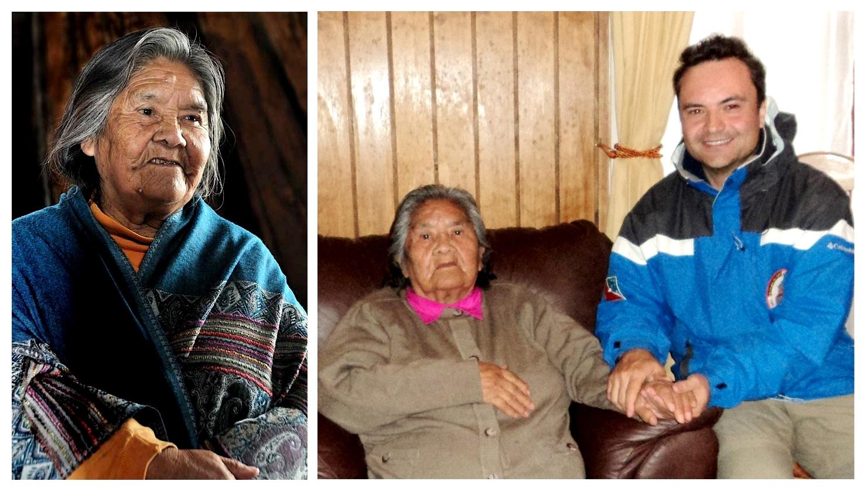 """Com a Sra. Cristina Calderón a última descendente de sangue puro do povo Yámana, declarada Patrimônio Vivo da Humanidade pela Unesco e pelo Governo do Chile. Em meu livro """"21 Dias Nos Confins do Mundo"""", foi ela quem inspirou-me a personagem Virgínia."""