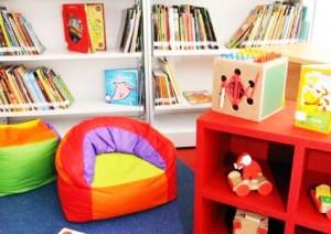 interior da Biblioteca Parque da Rocinha Espaço Infantil