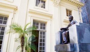 Visita do escritor Henry Jenné a Academia Brasileira de Letras