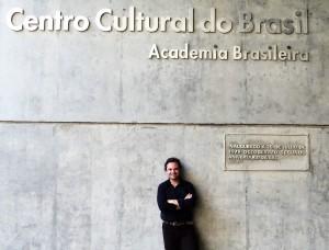 Visita do escritor Henry Jenné ao Palácio Austregésimo de Athayde da Academia Brasileira de Letras
