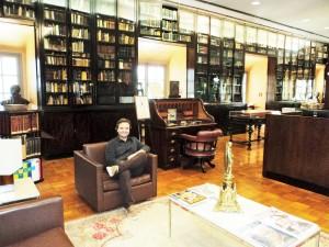 Visita do escritor Henry Jenné a Biblioteca Acadêmica Lúcio de Mendonça da Academia Brasileira de Letras