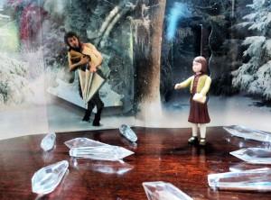 Maquetes retratando cenas do filme Crônicas de Nárnia na Exposição no Salão Principal Semana Literária Mosteiro de São Bento