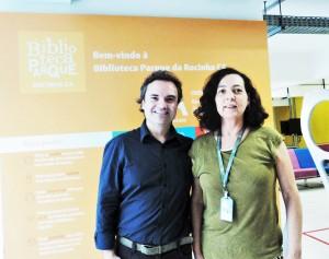 Visita do escritor henry jenné as bibliotecas do Rio de Janeiro Parque da Rocinha