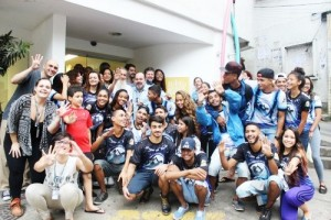 Visita de estudantes Biblioteca Parque da Rocinha