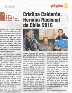 jornal pagina 3 de santa catarina brasil cristina calderon eleita nova heroina do chile