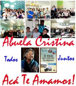 Crianças e Jovens de escolas brasileiras que estão conhecendo Avuela Cristina, assim como a história de seus ancestrais e da Terra do Fogo.