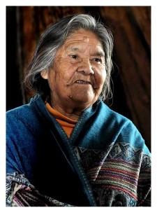 Cristina Calderón, conhecida como Abuela Cristina - declarada em 2003 Patrimônio Vivo e Imaterial da Humanidade pela UNESCO.