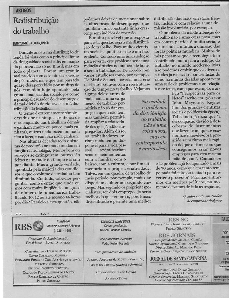 19 redistribuição do trabalho SANTA